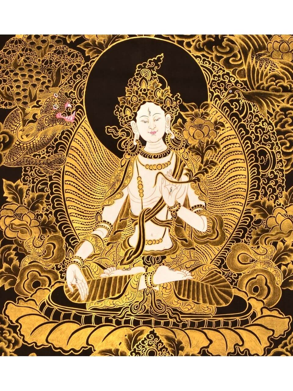 White Tara Details about  /Nice Silver Amulet M Small Thangka